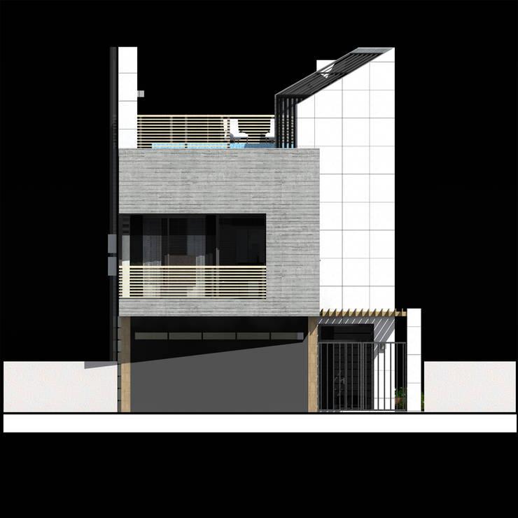 Дом в стиле минимализм на побережье Черного моря. Москва, 2010г.: Дома в . Автор – CHM architect