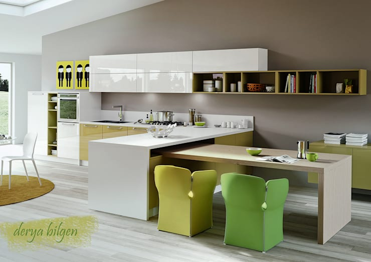 Cocinas de estilo moderno por Derya Bilgen