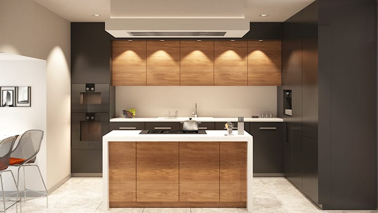 Derya Bilgen – Kitchen: modern tarz Mutfak