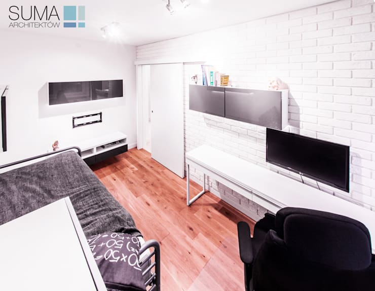 ENGLISH_ONE: styl , w kategorii Sypialnia zaprojektowany przez SUMA Architektów