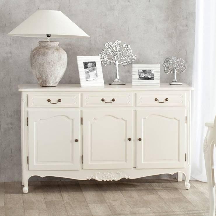 Kommode Dorothee mit 3 Schubladen und 3 Türen, white:  Schlafzimmer von homify