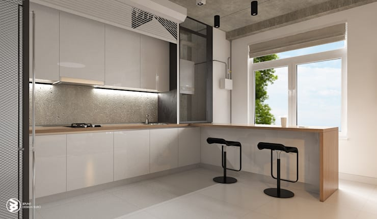 Квартира в ЖК Британский квартал: Кухни в . Автор – 27Unit design buro, Лофт