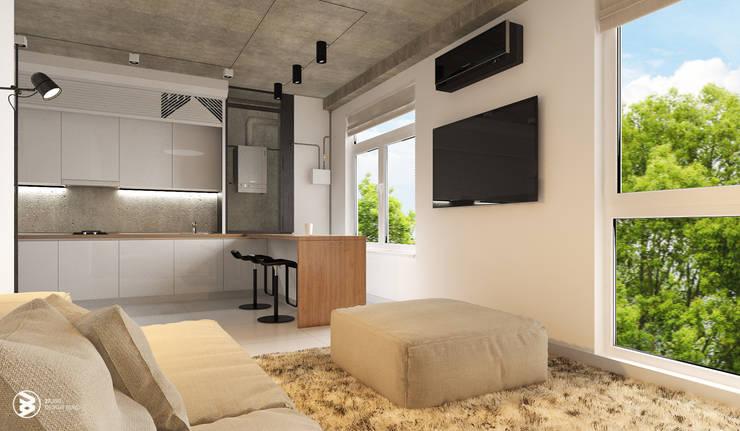 Квартира в ЖК Британский квартал: Гостиная в . Автор – 27Unit design buro, Лофт