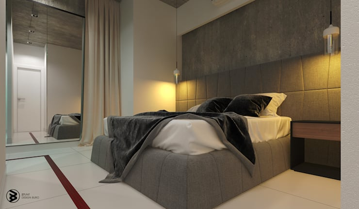 Квартира в ЖК Британский квартал: Спальни в . Автор – 27Unit design buro, Лофт