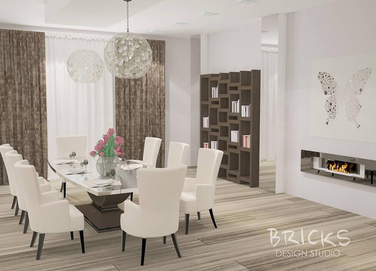 Апартаменты в центре Санкт-Петербурга. : Гостиная в . Автор – Bricks Design,