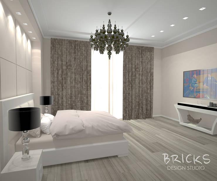 Апартаменты в центре Санкт-Петербурга. : Спальни в . Автор – Bricks Design,