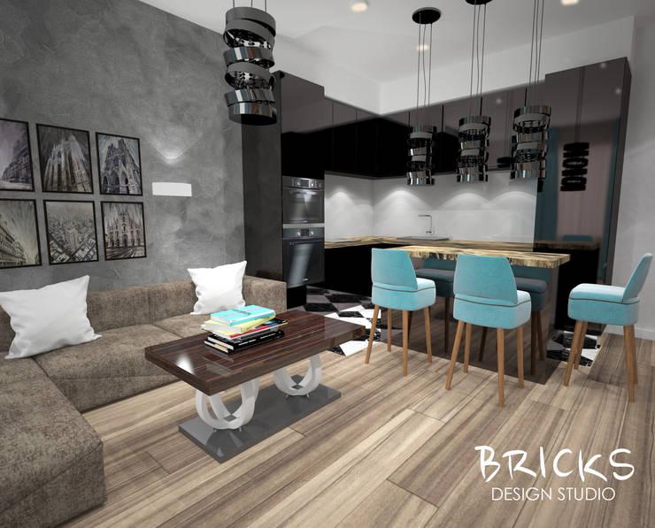 Легкость лофта: Кухни в . Автор – Bricks Design