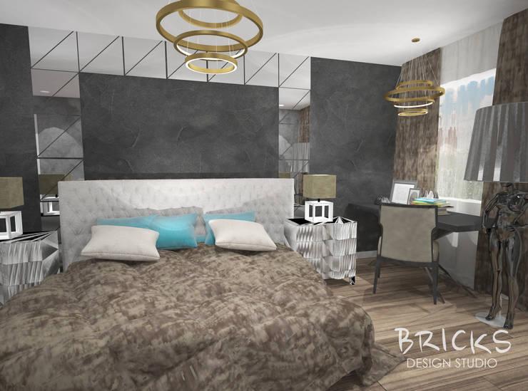 Легкость лофта: Спальни в . Автор – Bricks Design