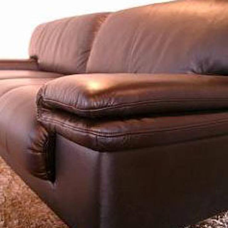 Domeni sofa: TANIGAWA STUDIO 家具デザインが手掛けたリビングルームです。,