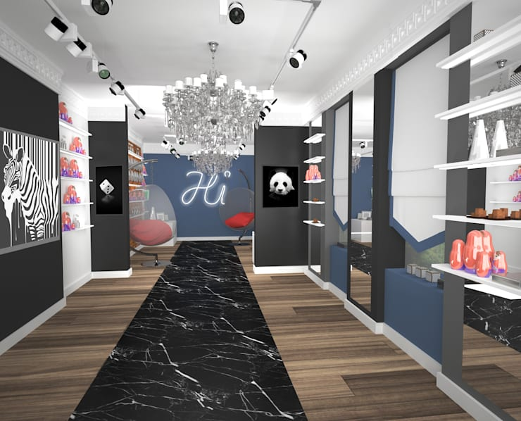Магазин-галерея: Офисы и магазины в . Автор – Bricks Design