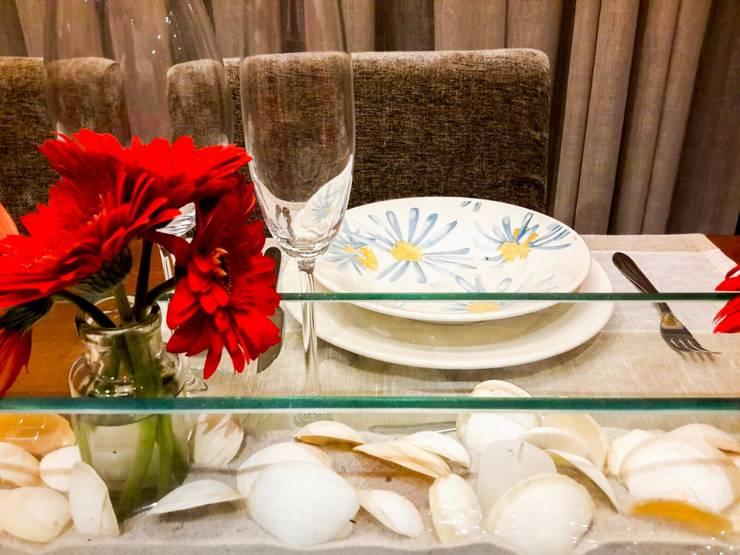 detalhe: Salas de jantar rústicas por Deise leal interiores