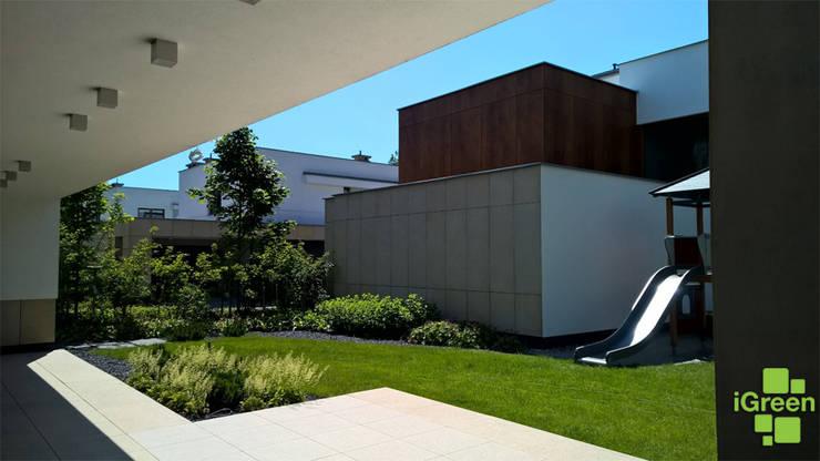 Wnętrze ogrodu.: styl , w kategorii  zaprojektowany przez IGREEN Architektura Krajobrazu i Miejskie Formy