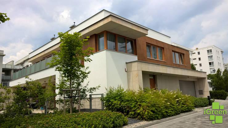 Strefa wejściowa.: styl , w kategorii  zaprojektowany przez IGREEN Architektura Krajobrazu i Miejskie Formy