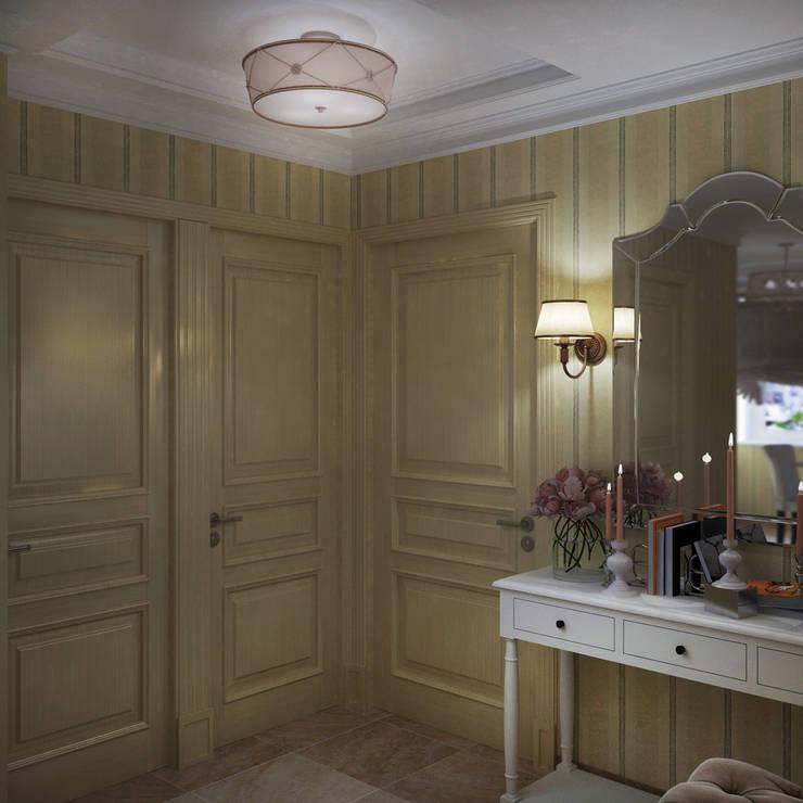 Классический стиль в однокомнатной квартире: Коридор и прихожая в . Автор – MEL design
