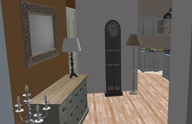 Salas / recibidores de estilo  por T_C_Interior_Design___, Clásico