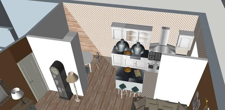 Cocinas equipadas de estilo  por T_C_Interior_Design___, Clásico