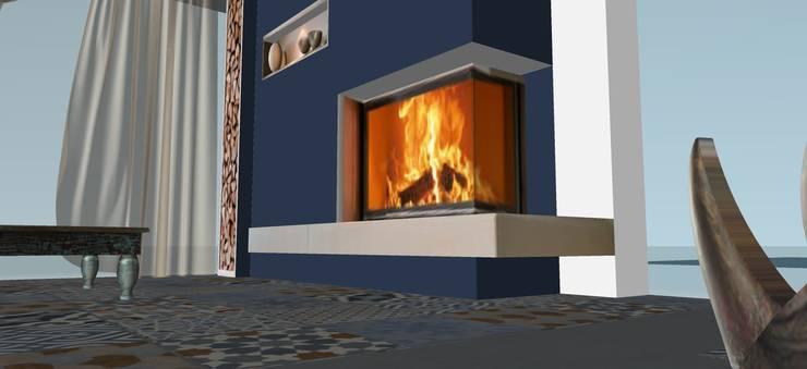 Salas / recibidores de estilo  por T_C_Interior_Design___, Mediterráneo