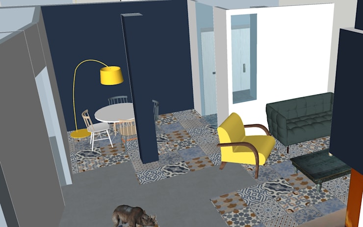 Comedores de estilo  por T_C_Interior_Design___, Mediterráneo