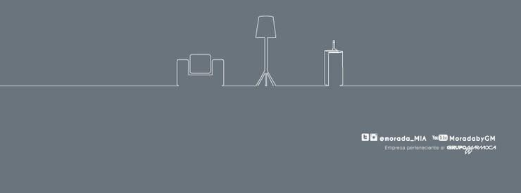 Redes Sociales: Salas / recibidores de estilo moderno por MORADA CENTRO DE DISEÑO S.A.