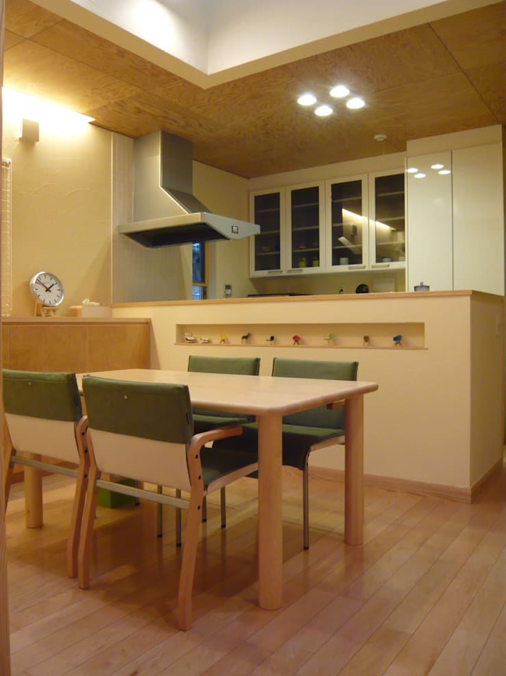 風と光と音楽と・・・@K-CITY: 設計工房 A・D・FACTORY 一級建築士事務所が手掛けたキッチンです。