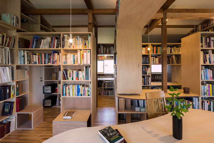 Living room by スズケン一級建築士事務所/Suzuken Architectural Design Office, Modern Wood Wood effect