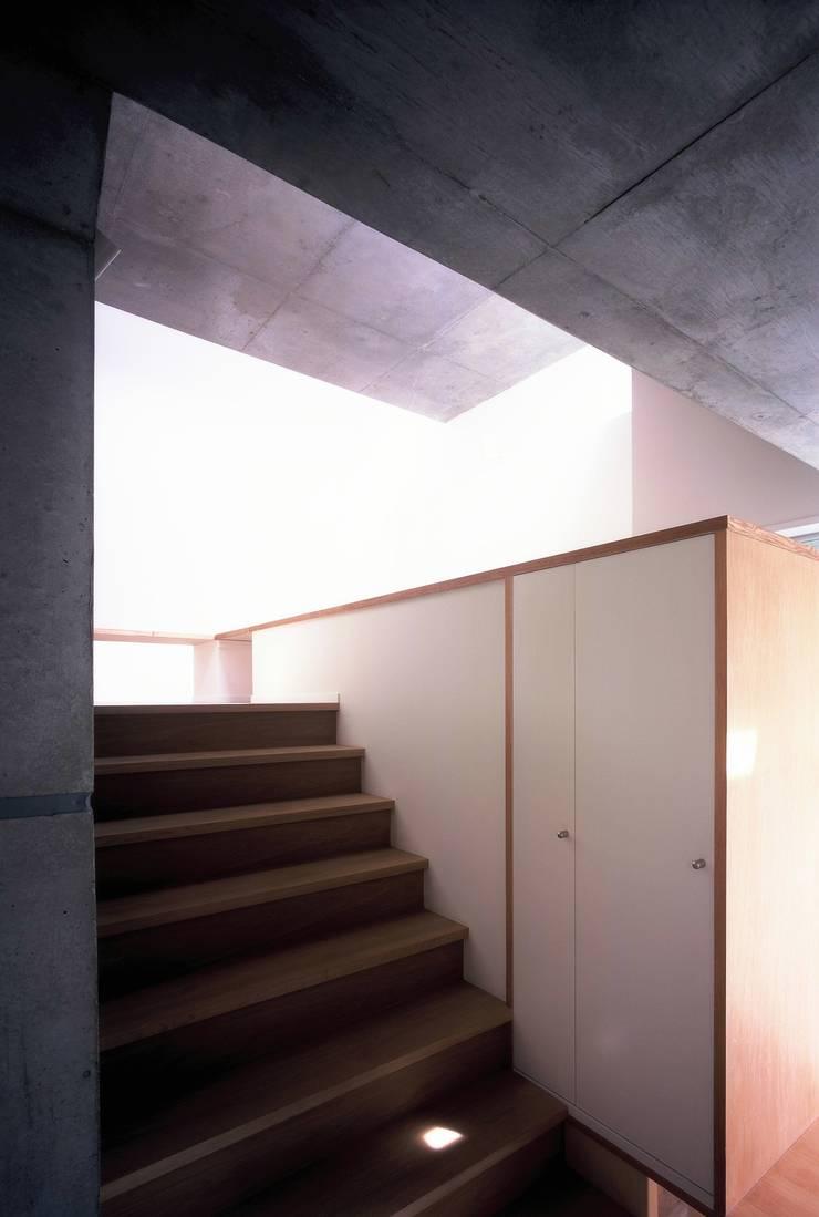 板の家: スズケン一級建築士事務所/Suzuken Architectural Design Officeが手掛けた廊下 & 玄関です。