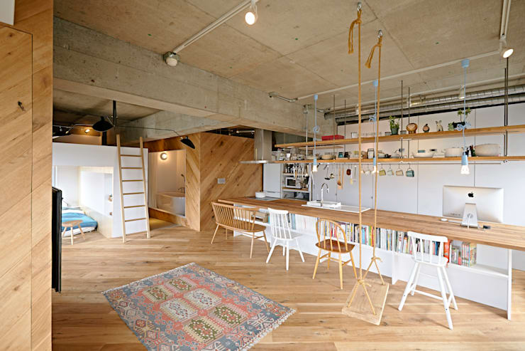 Salas / recibidores de estilo  por .8 / TENHACHI