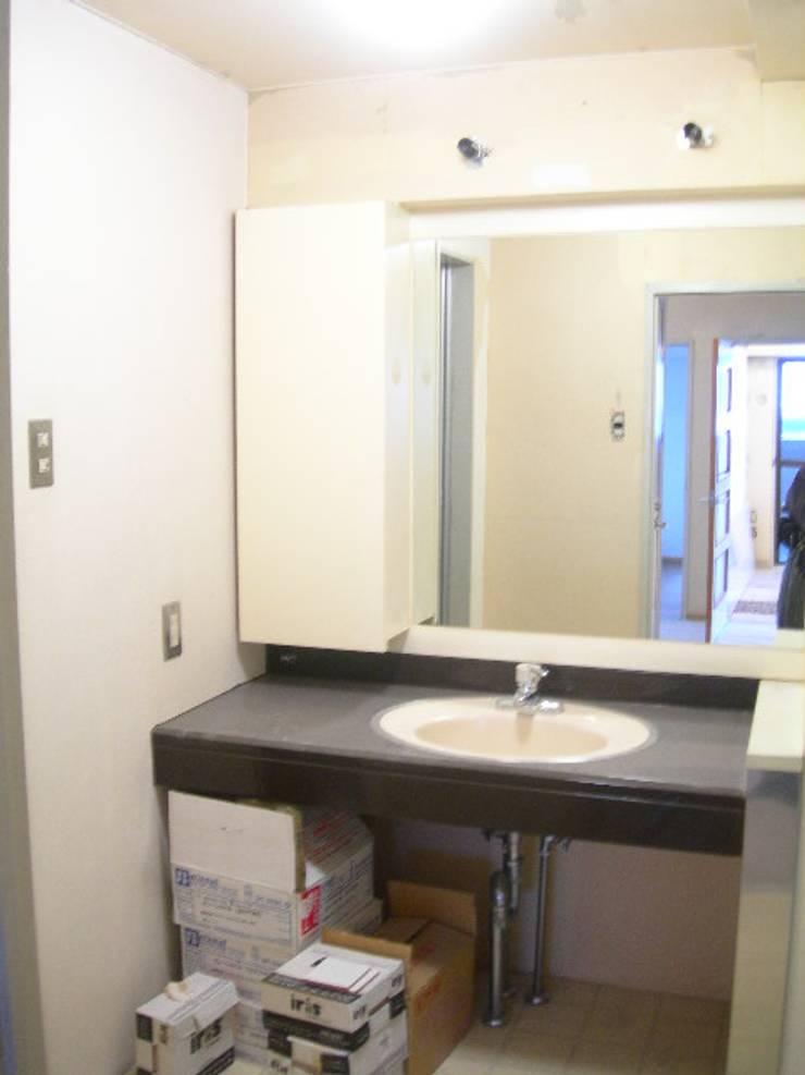 洗面所もワクワクする空間にしたい!: インテリア研究事務所が手掛けた浴室です。,