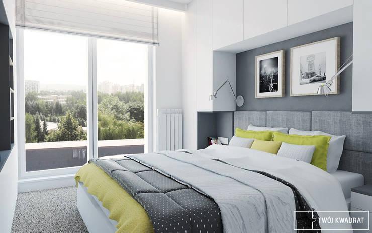 Mieszkanie na warszawskiej Pradze : styl , w kategorii Sypialnia zaprojektowany przez Twój Kwadrat,Nowoczesny