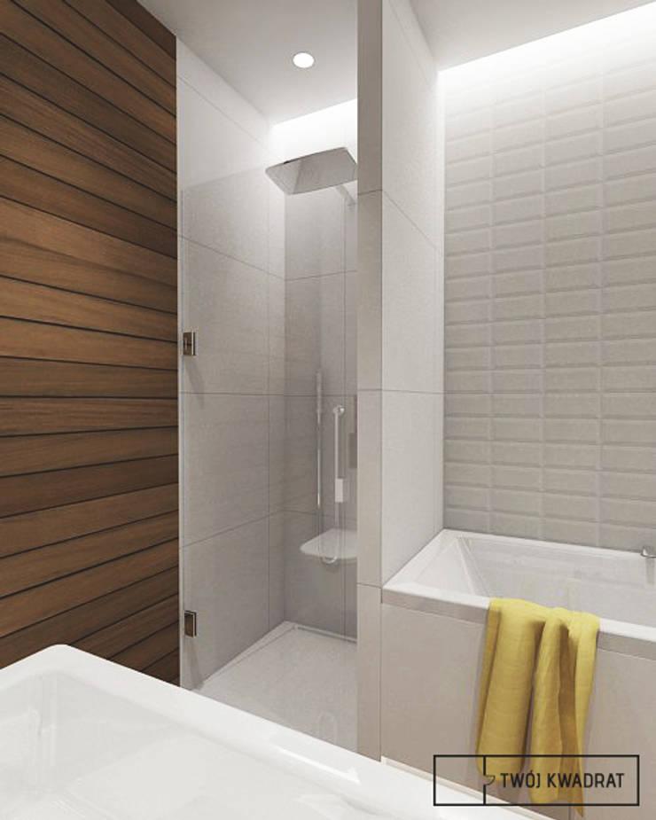 Mieszkanie na warszawskiej Pradze : styl , w kategorii Łazienka zaprojektowany przez Twój Kwadrat,Nowoczesny Cegły