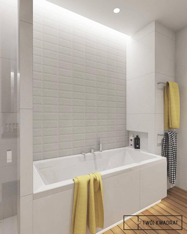 Mieszkanie na warszawskiej Pradze : styl , w kategorii Łazienka zaprojektowany przez Twój Kwadrat,Nowoczesny Lite drewno Wielokolorowy