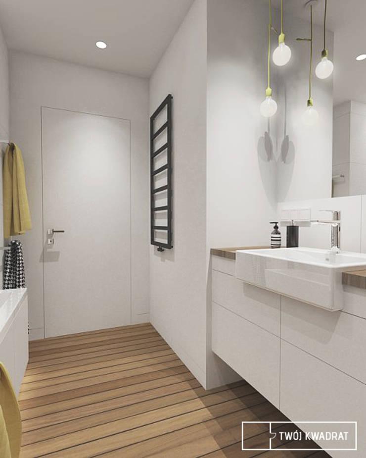 Mieszkanie na warszawskiej Pradze : styl , w kategorii Łazienka zaprojektowany przez Twój Kwadrat,Nowoczesny Drewno O efekcie drewna