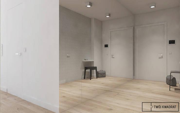 Mieszkanie na warszawskiej Pradze : styl , w kategorii Korytarz, przedpokój zaprojektowany przez Twój Kwadrat,Nowoczesny