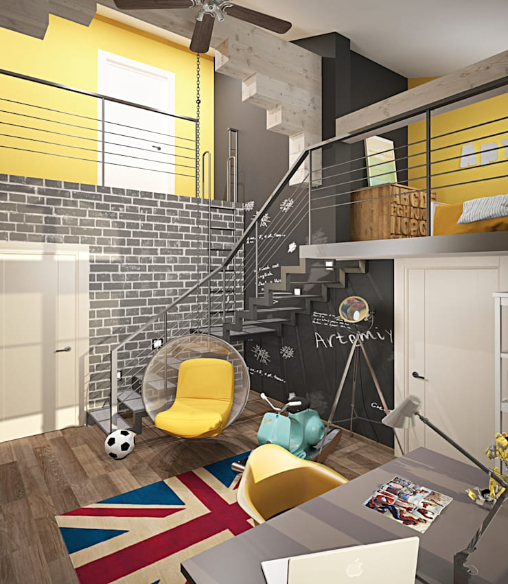 Детская для активного ребенка: Детские комнаты в . Автор – MEL design,