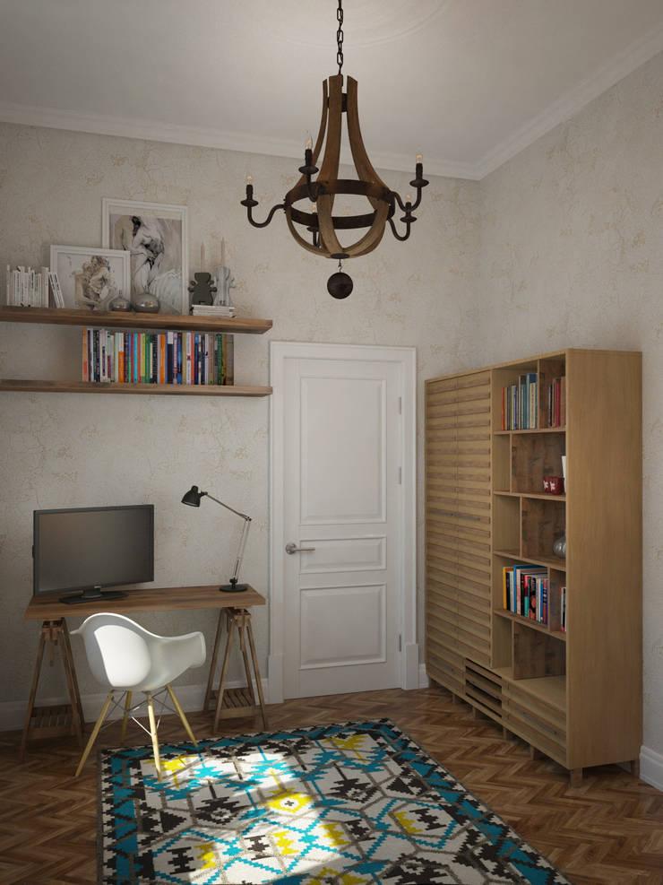 Лофт в небольшой квартире: Спальни в . Автор – MEL design,