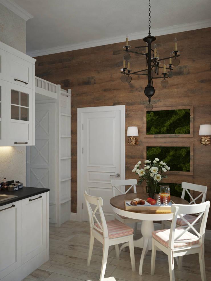 Лофт в небольшой квартире: Кухни в . Автор – MEL design,