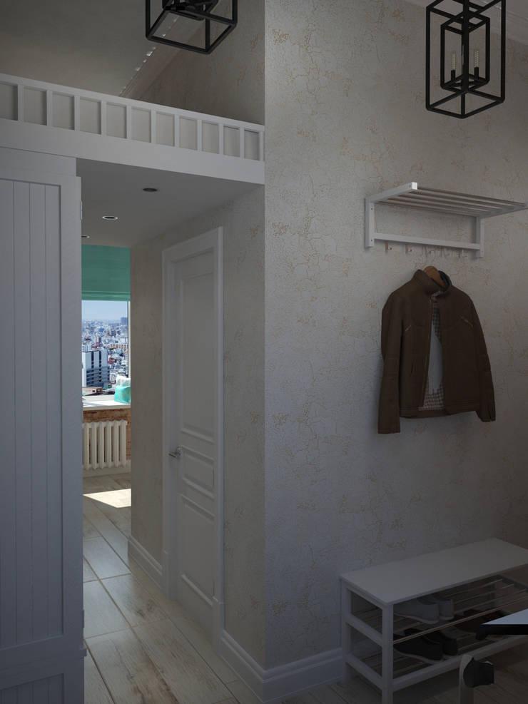 Лофт в небольшой квартире: Коридор и прихожая в . Автор – MEL design,
