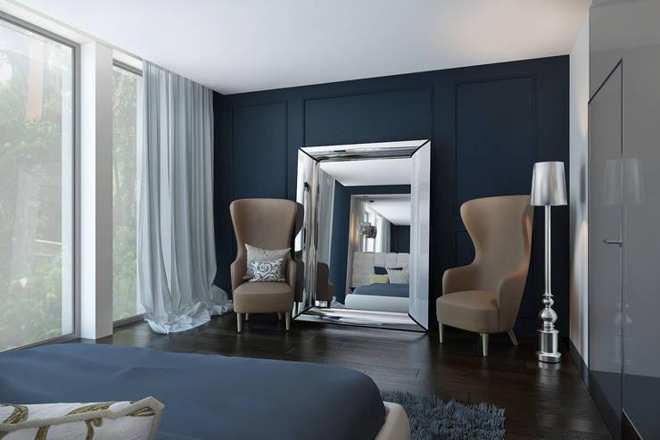 Hamoir: Chambre de style  par ZR-architects