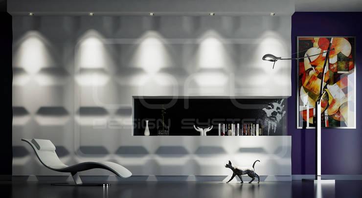 Panele Dekoracyjne 3D - Loft Design System - model Chocolate Bar: styl , w kategorii Ściany i podłogi zaprojektowany przez Loft Design System