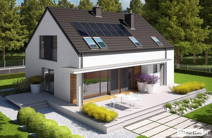 Projekt domu E4 G1 ECONOMIC (wersja A) : styl , w kategorii Domy zaprojektowany przez Pracownia Projektowa ARCHIPELAG