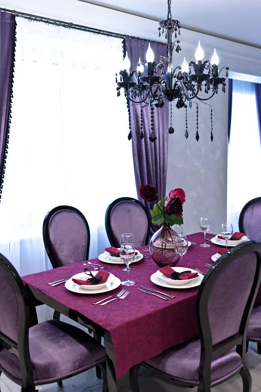 Загородный дом  ул. Добрянская  235 кв.м: Столовые комнаты в . Автор – Дизайн студия fabrika