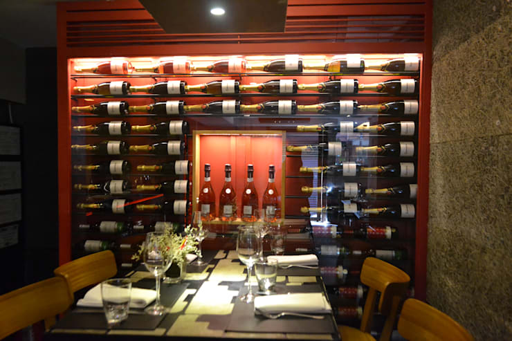Restaurante Sustentável - Ibérico: Sala de jantar  por BF Sustentabilidade, Arquitetura e Iluminação