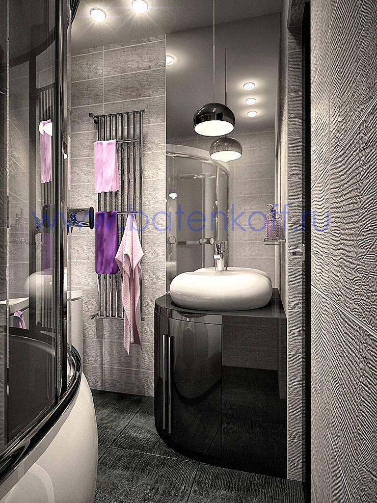 Дизайн проект ванных комнат: Ванные комнаты в . Автор – Дизайн студия 'Дизайнер интерьера № 1',
