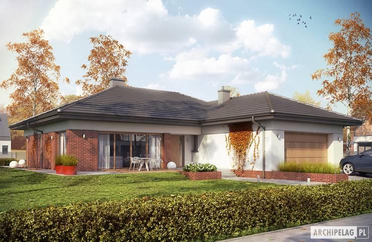 Projekt domu Dominik G2 (wersja B) : styl , w kategorii Domy zaprojektowany przez Pracownia Projektowa ARCHIPELAG