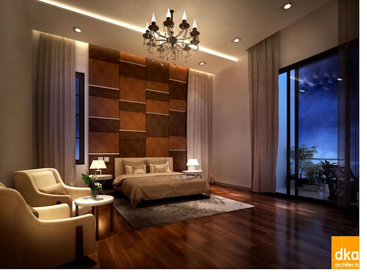 Pent house:  Bedroom by Dutta Kannan architects