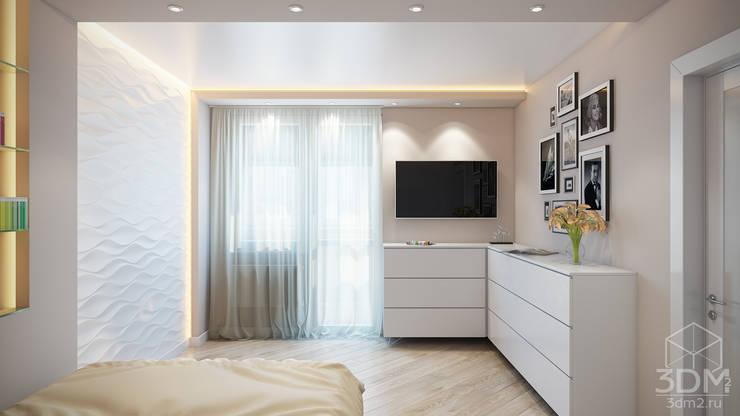 Проект 046: квартира на Борисовских прудах: Гостиная в . Автор – студия визуализации и дизайна интерьера '3dm2'