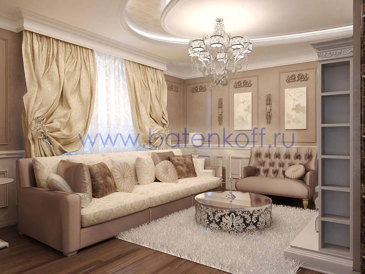 Дизайн проект гостиной кухни столовой: Гостиная в . Автор – Дизайн студия 'Дизайнер интерьера № 1'