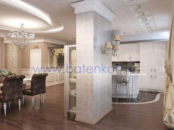 Дизайн проект гостиной кухни столовой: Кухни в . Автор – Дизайн студия 'Дизайнер интерьера № 1'