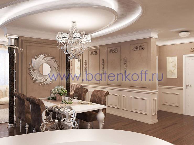 Дизайн проект гостиной кухни столовой: Столовые комнаты в . Автор – Дизайн студия 'Дизайнер интерьера № 1'