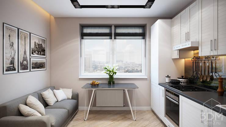 Проект 046: квартира на Борисовских прудах: Кухни в . Автор – студия визуализации и дизайна интерьера '3dm2'